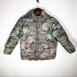 Midi Boden Camo Puffer Jacket 7 to 8 y Green